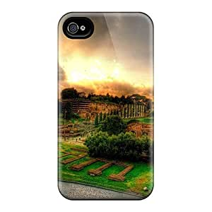 Iphone 4/4s Cover Case - Eco-friendly Packaging(view From The Colosseum Hdr)