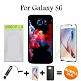 3in1 vape - Colorful Vape Smoke Custom Galaxy S6 Cases-Black-Rubber,Bundle 3in1 Comes with HD Tempered Glass/Universal Stylus Pen by innosub