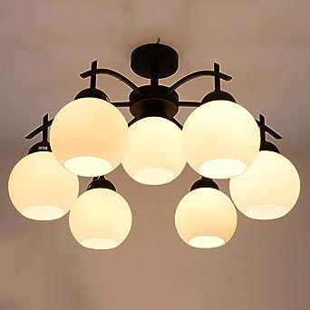Lámpara de techo Tienda LED Hierro Simple Moderna Ideas cálidas y ...