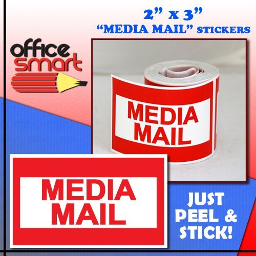 300 2x3 MEDIA MAIL Mailing Shipping Labels Stickers Photo #4