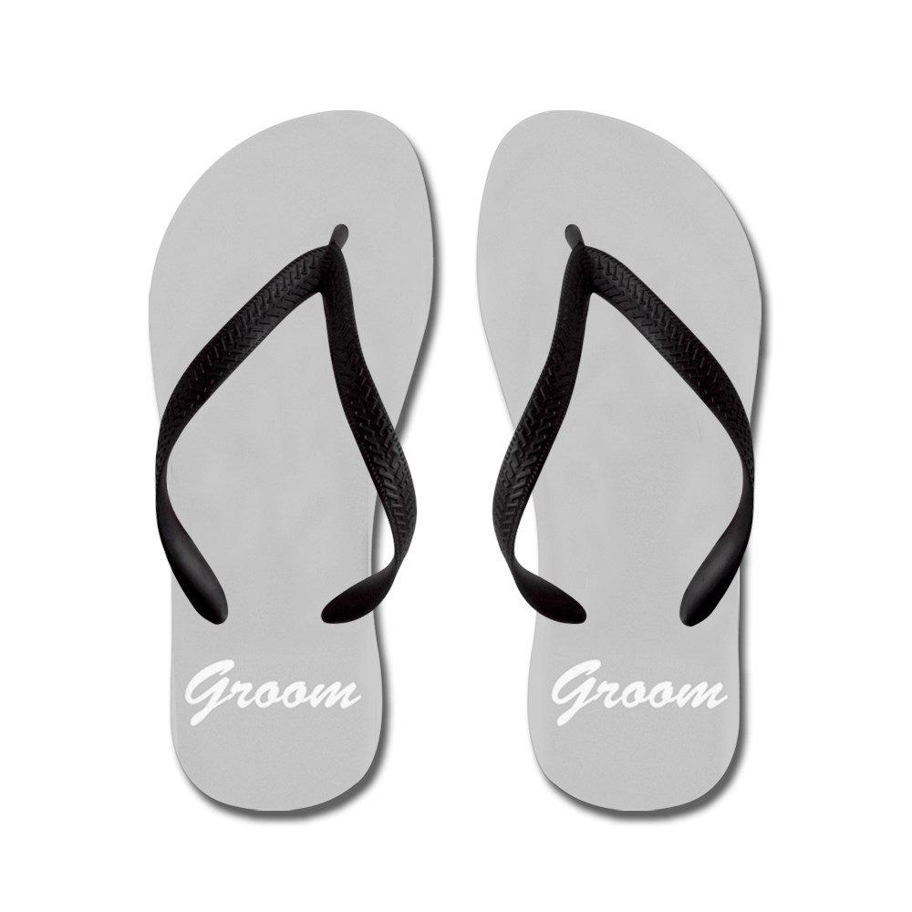 CafePress Bride and Groom Flip Flops - For him - Flip Flops, Funny Thong Sandals, Beach Sandals