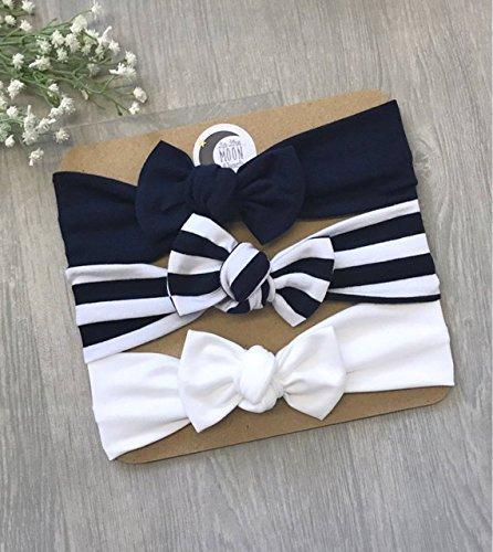 Baby Headbands/Baby Bow/The Navy Set