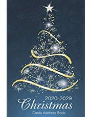 Christmas Cards Address Book: A Ten-Year Address Book & Tracker for Holiday Card Mailings Greeting Cards You Send and Receive, 10 Year Organizer Record Book with A-Z Tabs