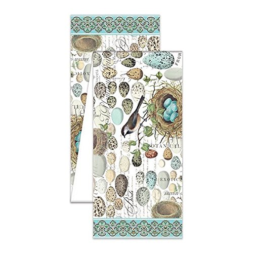 The Deborah Michel Collection Turkish Cotton Table Runner, Nest & Eggs, 108