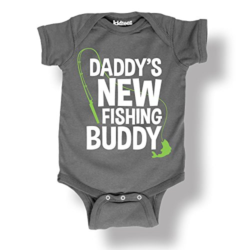 Air Waves Dadddy's New Fishing Buddy, Pole -Infant One Piece-NB - Dads Little Fishing Buddy