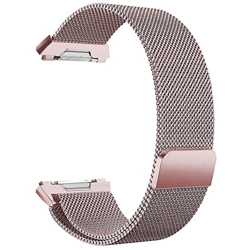 Hooroor For Fitbit Ionic Bands Small And Large For Women Men Fully Magnetic Closure Clasp Mesh