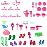 50pcs Barbie Accessories Set Shoes Mirror Hanger Comb for Barbie doll Xmas Gift Birthday Gift