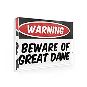Fridge Magnet Beware of the Great Dane Dog from Germany - Neonblond