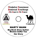 Alcoholics Anonymous AA 12 Step Speaker CD - Marty Mann 1st Woman in AA Story