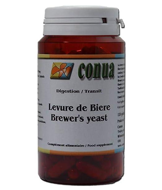 Levadura de cerveza viva 120 cápsulas: vigorizante digestión uñas pelo activa de la piel del acné: Amazon.es: Salud y cuidado personal