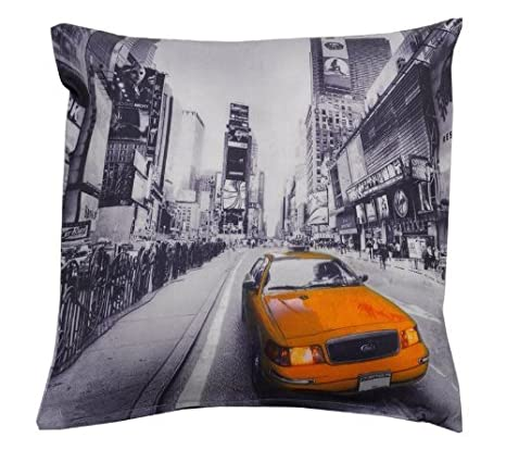 Amazon.com: Nueva York Taxi Amarillo Funda de cojín 17 x 17 ...