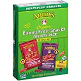 Annies Organic Bunny Fruit Snacks, Variety Pack, 12 Pouches, 9.6 oz Box