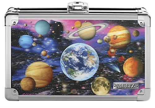 Vaultz Locking Supply Box, 8.25 x 5.5 x 2.5 Inches, Embossed Planets (VZ00775)
