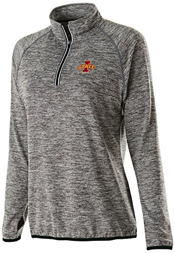 Ouray Sportswear NCAA Iowa State Cyclones Women's Force Training Top, Large, Carbon Heather/Black
