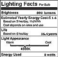 CRLight Dimmable LED Edison Bulb 8W 800LM 80W Incandescent Equivalent, E26 Medium Base ST64 Vintage LED Filament Bulbs, 3200K Soft White & 5000K Daylight White