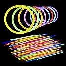 Lumistick 100 AUTHENTIC 8 Inch Glow Sticks - Bendable Glow Sticks With Bracelet Connectors - Glowstick Bundle Party Bracelets (100, Assorted)