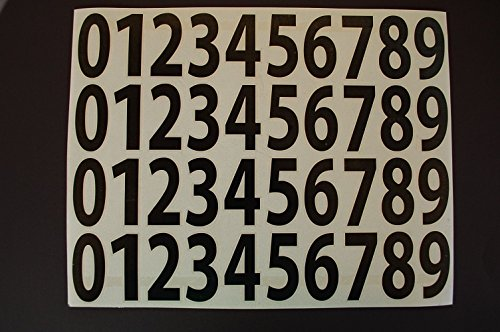 Number 8 Decal (0-9 Numbers Vinyl Sticker Decals Set Of 40 Pick Color & Size 1/2