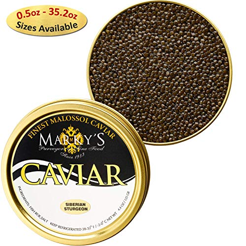 - Marky's Baerri Osetra Sturgeon Black Caviar - 2 oz - Malossol France Ossetra Black Roe - GUARANTEED OVERNIGHT