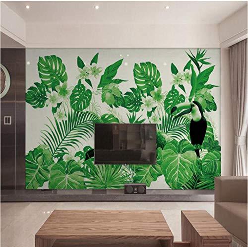 XIXISA Custom 3D Photos Hd Modern 3 d Effect Photo Wallpaper Desktop Wallpaper Hd Tropical Plant Photo Wall Murals Forest Mural 300cm(W) x 200cm(H)