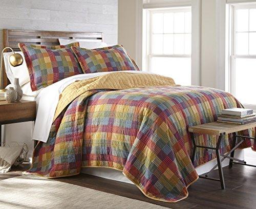 Creek Queen Bed - Sterling Creek Monaco 3-piece Vintage Rustic Patchwork 100%-Cotton Quilt Set (Queen)
