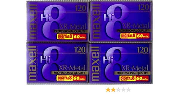 Maxell 8mm Videocassette EX-M P6-120