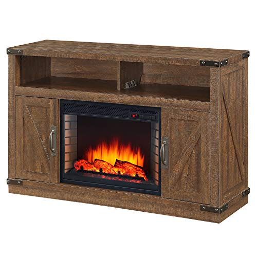 Cheap Muskoka 234-05-200 Electric Fireplace Rustic Brown Black Friday & Cyber Monday 2019
