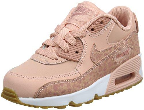 Nike Air Max 90 Se LTR (PS), Zapatillas de Gimnasia Para Niñas Rosa (Coral Stardustrust Pinkwhite 601)