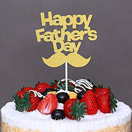 Jettingbuy Happy Fathers Day Cake Topper Father S Day Festival Party Cupcake Decorations