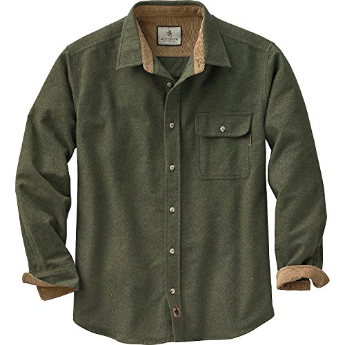 Legendary Whitetails Mens Buck Camp Flannel Shirt, Army, Large (Flannel Shirt Abercrombie Women)