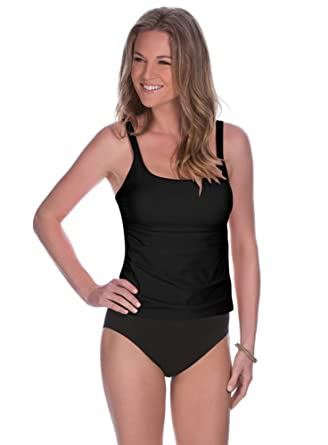 1b8ce27c21af6 Miraclesuit Long Torso Solid Avalon Soft Cup Tankini Top at Amazon Women's  Clothing store: