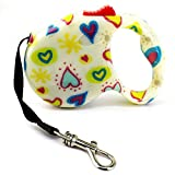 VICTORY,Pet Dog / Cat Puppy Automatic Retractable Traction Rope Walking Lead Leash 118inch Flowers Design Durable Pet Dog Leash