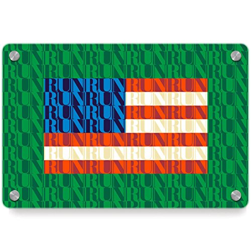 American Flag Mosaic | Running Metal Wall Art Panel by Gone For a Run | Multiple Colors