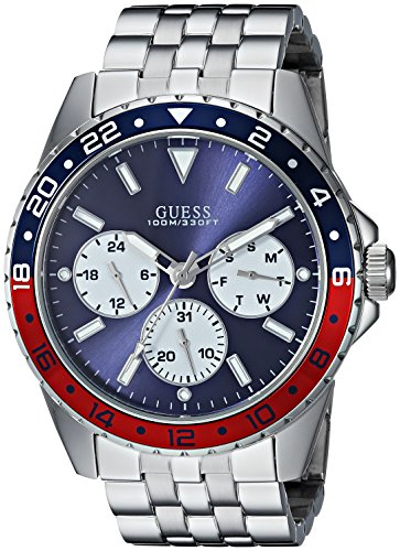 GUESS Men's Stainless Steel Bracelet Watch, Color: Silver-Tone (Model: U1107G2)