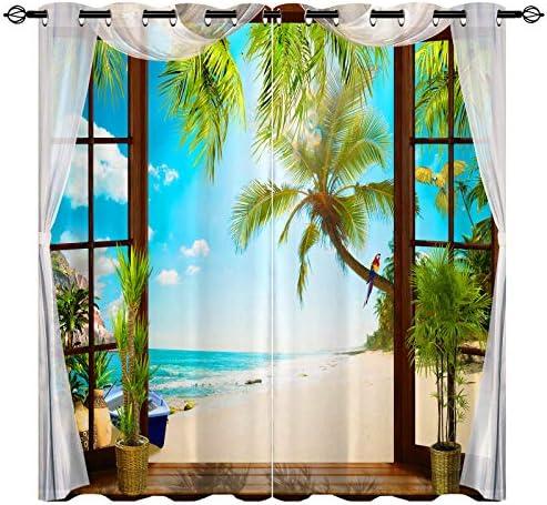 ANHOPE Beach Curtain
