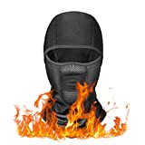 YINXN Balaclava Mask, Winter Ski Mask Balaclava Face Mask Windproof Fleece Tactical Balaclava Face Mask for Men, Women, Skiing, Cycling, Snowboarding Black