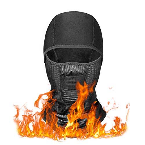 YINXN Balaclava Mask, Winter Ski Mask Balaclava Face Mask Windproof Fleece Tactical Balaclava Face Mask for Men, Women, Skiing, Cycling, Snowboarding Black