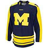 NCAA Reebok Michigan Wolverines 2012 GLI Edge Hockey Jersey - Navy Blue (Small)