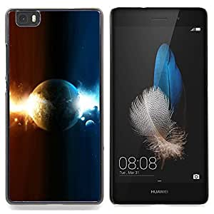 - Dual Planet - - Cubierta del caso de impacto con el patr??n Art Designs FOR HUAWEI P8 Lite Queen Pattern
