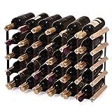 Cheap LAZYMOON 30 Bottle Capacity Wooden Wine Rack Storage Hanging Home Bar Kitchen Beer Shelf Holder