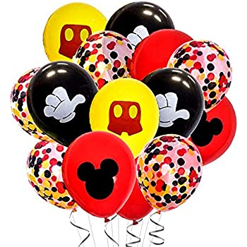 Amazon.com: Paquete de 40 globos de Mickey Mouse de 12.0 in ...