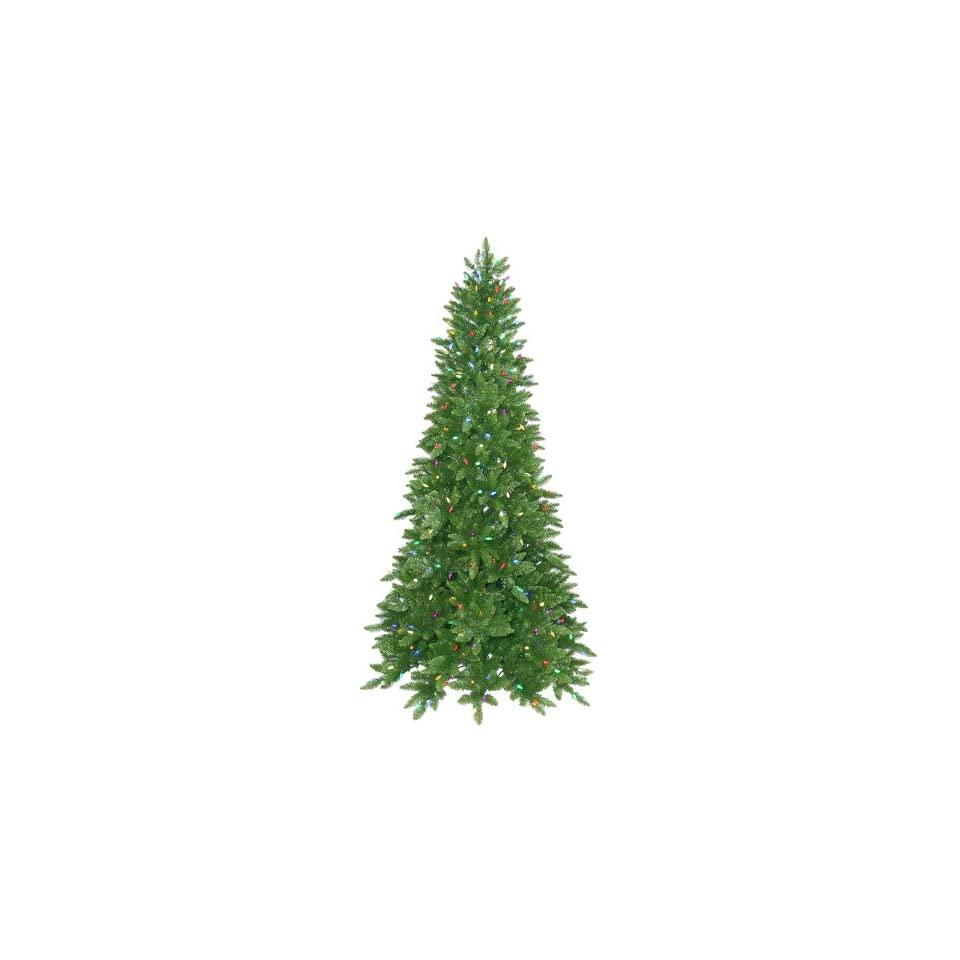 6.5 Pre Lit Ashley Spruce Christmas Tree   Multicolor LED Lights