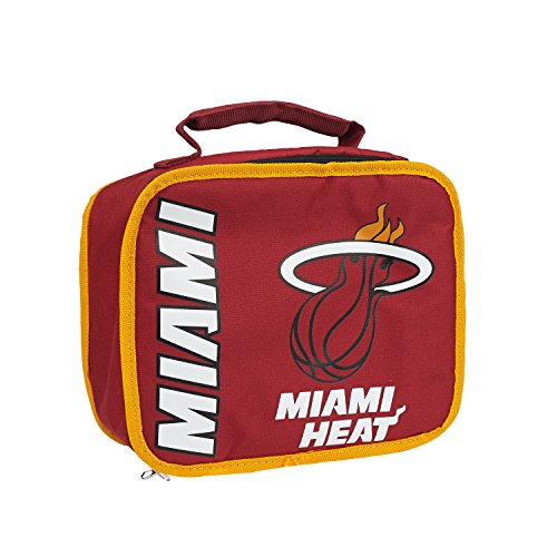 NBA Miami Heat Sacked Lunchbox, 10.5-Inch, Red
