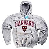 Harvard Hoodie Sweatshirt Gray Crimson Crew NCAA