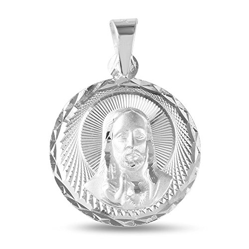 Sterling Silver Jesus Pendant, 18