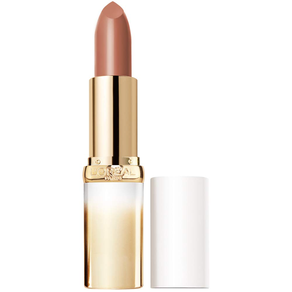 L'Oreal Paris Age Perfect Satin Lipstick with Precious Oils, 216 Glowing Nude, 0.13 Ounce