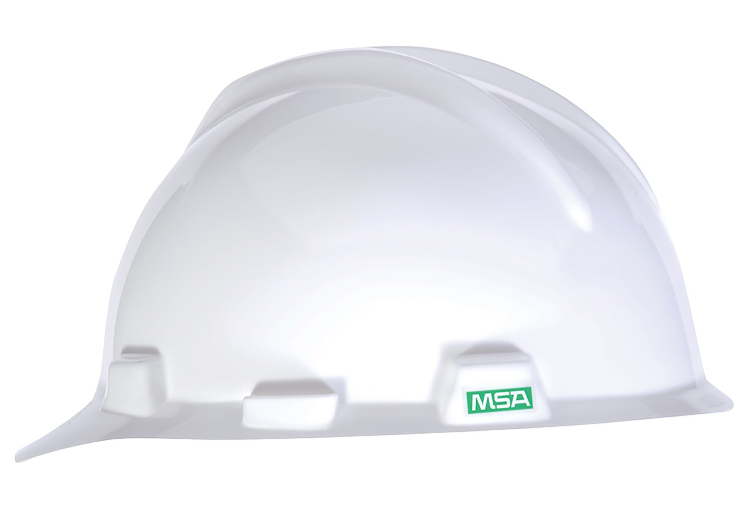 MSA 477477 V-Gard Slotted Protective Cap with Fas-Trac Suspension, Small, White by MSA (Image #1)