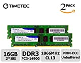 Timetec Hynix ic 16GB Kit (2x8GB) DDR3 1866MHz PC3-14900 Unbuffered Non-ECC 1.5V CL13 2Rx8 Dual Rank Desktop Memory Ram Module Upgrade (16GB Kit (2x8GB))