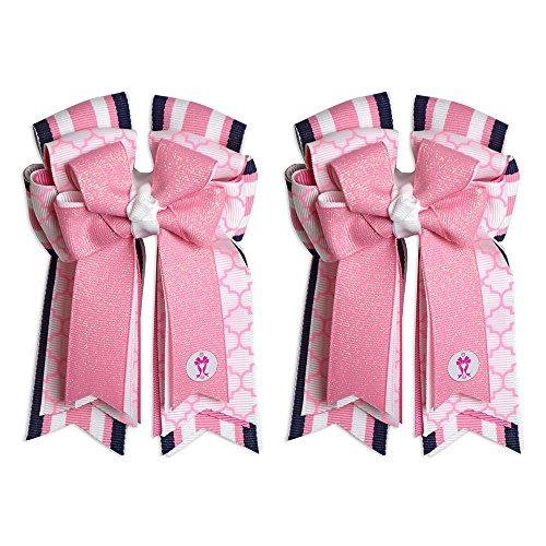 Equestrian Show Bow Set - Premium Handmade by PonyTail Bows