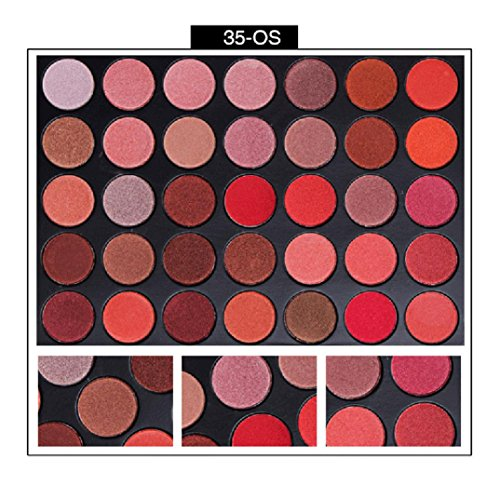 NOMENI Eyeshadow,2017 35 Colors Shimmer Matte Eye Shadow Eyeshadow Palette Pro Cosmetic Makeup Tool,275g,35 Colors/Palette (Cargo Eye Lighter)