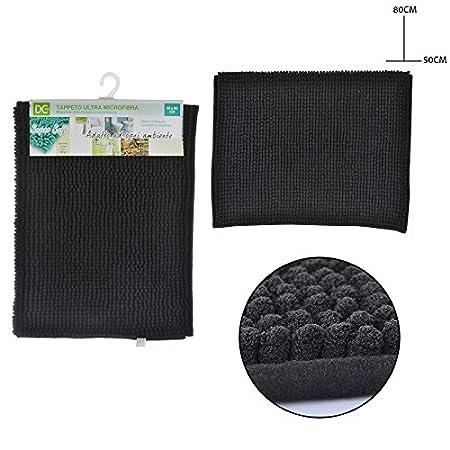 mat/ériau microfibre Tapis de salle de bain absorbant lavable en machine douchette en duvet cheveux courts
